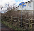 SM9310 : National Cycle Network route 4 signpost, Johnston by Jaggery