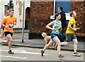 SJ9594 : Hyde 7 Road Race: A group of runners by Gerald England