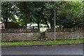 TL1698 : Footpath leaves Thorpe Road by David P Howard