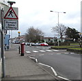 SS8277 : Warning sign - humped zebra crossing, New Road, Porthcawl by Jaggery