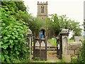 SD6668 : St Margaret, High Bentham: churchyard gates by Stephen Craven