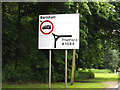 TL8978 : Roadsign on the A1088 Thetford Road by Adrian Cable