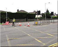 ST3090 : Malpas Road closed north of Bettws Lane, Newport by Jaggery