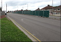 ST3090 : Temporary barrier in the middle of Malpas Road, Newport by Jaggery