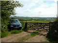 SW4131 : Gate and Parked Car near Roceven by James Emmans