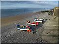 TG1543 : Boats at Sheringham by Hugh Venables