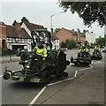 SP2865 : Three mowers in Coten End, Warwick by Robin Stott