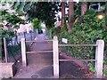 SZ0695 : West Howe: this segment of footpath U28 is called Osprey Lane by Chris Downer