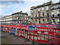 NT2473 : Colourful Roadworks by Anne Burgess