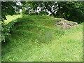 SE0929 : Earthwork over Shibden Brook, Queensbury by Humphrey Bolton