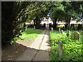 TF2804 : St Mary & St Botolph, Thorney: churchyard (e) by Basher Eyre