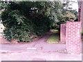 SZ0696 : Kinson: footpath E23 arrives at Berrans Avenue by Chris Downer