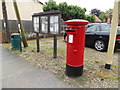 TL9986 : Market Square Postbox & East Harling Village Notice Board by Adrian Cable