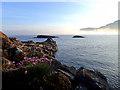 NM5421 : Sea fret, Carsaig Bay by Mick Garratt