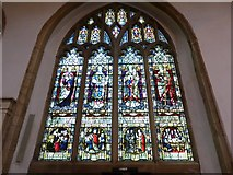 TL1998 : St John the Baptist, Peterborough: stained glass memorial (i) by Basher Eyre