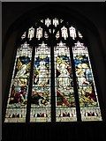 TL1998 : St John the Baptist, Peterborough: stained glass window (vii) by Basher Eyre