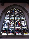 TL1998 : St John the Baptist, Peterborough: stained glass window (xi) by Basher Eyre