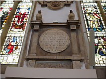 TL1998 : St John the Baptist, Peterborough: memorial (iii) by Basher Eyre