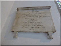 TL1998 : St John the Baptist, Peterborough: memorial (vi) by Basher Eyre