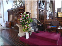 TL1998 : St John the Baptist, Peterborough: pulpit by Basher Eyre