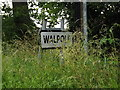 TM3671 : Walpole Village Name sign on the C209 Peasenhall Road by Adrian Cable