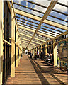 TL1898 : Covered way to bus stands, Queensgate Bus Station, Peterborough by Robin Stott