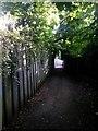 SZ0992 : Malmesbury Park: footpath C18 approaches Wellington Road by Chris Downer