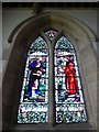 TF0904 : St Andrew, Ufford: stained glass window (V) by Basher Eyre