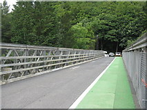 NY4724 : Bailey Bridge over the River Eamont by M J Richardson