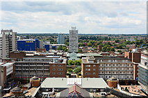 SP3378 : View of Coventry Centre, from the cathedral spire by Oliver Mills