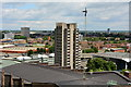 SP3379 : Priory Hall Tower and the roof of Coventry Cathedral by Oliver Mills