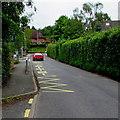 SO5719 : Zigzag road markings, Goodrich by Jaggery
