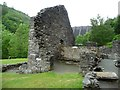 SN9186 : Ruined upper dressing building, Bryntail Mine by Christine Johnstone