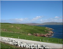 HU3363 : The coastline at Knowe, Muckle Roe by David Purchase