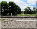 ST3487 : Glimpse of the South Wales Main Line railway from Alway, Newport by Jaggery