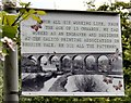SJ8990 : Lamppost Artwork: Reddish Vale Viaduct by Gerald England