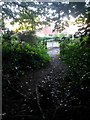 SZ0793 : Talbot Village: footpath E41 comes out on Boundary Road by Chris Downer