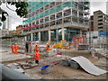 SJ8397 : Construction of New Metrolink Stop at St Peters Square - July 2016 by David Dixon