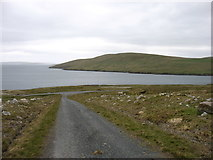 HU3583 : The track from Collafirth Hill by David Purchase