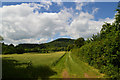 SO4718 : Fields and sky in the Monnow valley by Philip Pankhurst