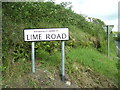 SN1411 : Ludchurch Cross - new road sign - LIME ROAD by welshbabe