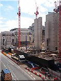 TQ3181 : Construction site, Farringdon Street by Julian Osley
