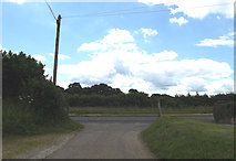 TM1678 : At the junction with the A143 Bungay Road by Geographer