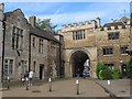 TL1998 : Peterborough Cathedral: gateway to the close by Stephen Craven