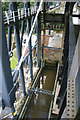SJ6475 : Anderton Boat Lift - inside the framework by Chris Allen