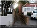 SZ0895 : Redhill: footpath O13 from Pine Vale Crescent by Chris Downer