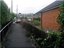 SZ0895 : Redhill: Jessopp Close from footpath O12 by Chris Downer