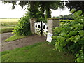 TM0179 : St.Andrew's Church Gates, Blo Norton by Adrian Cable