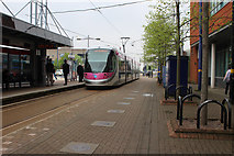 SO9198 : Tram at Wolverhampton, St George's station by Dr Neil Clifton