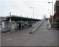 ST1599 : Ramp up from Bargoed bus station by Jaggery